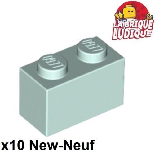 Lego LEGO Bausteine & Bauzubehör Baukästen & Konstruktion 10x Lego Ziegel 1x2 2x1 Wasser Blau lumière/light aqua 3004 neu