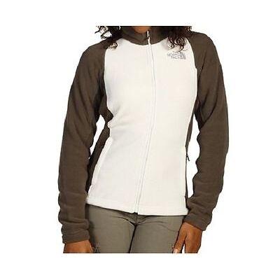 The North Face Womens Khumbu Jackets Fleece Coat V Gray Brown M-L NEW