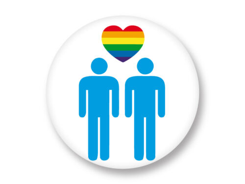 Magnet Aimant Frigo Ø38mm Logo Symbole Gay LGBT Homo