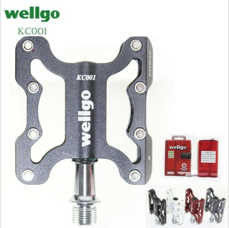 WELLGO KC001 MTB Bike Road city Bicycle Pedal sealed Bearing Platform Pedals