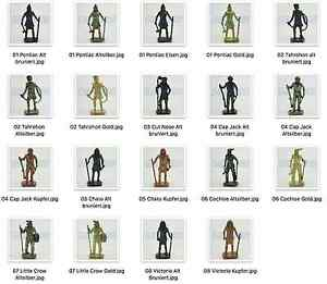 SOLDATINI KINDER METALLFIGUREN FERRERO Berühmte Indianer-Häupt<wbr/>linge II Singoli