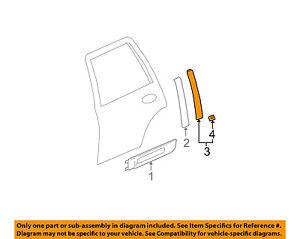 Superb Gmc Gm Oem 02 09 Envoy Exterior Rear Applique Window Trim Right Wiring Database Ilarigelartorg