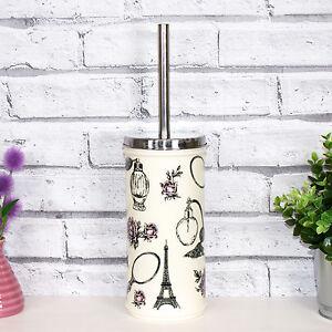 Image Is Loading Vintage Cream French Boudoir Toilet Brush Amp Holder