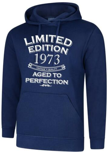 47th Birthday Gift Present Limited Edition 1973 Aged To Mens Womens Hoody Hoodie