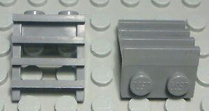 Lego-Eisenbahn-Waggon-Treppe-Leiter-new-Dunkelgrau-2-Stueck-791
