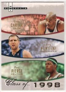 2007-08 Fleer Hot Prospects Class of 1998 Vince Carter/Dirk Nowitzki/Paul Pierce