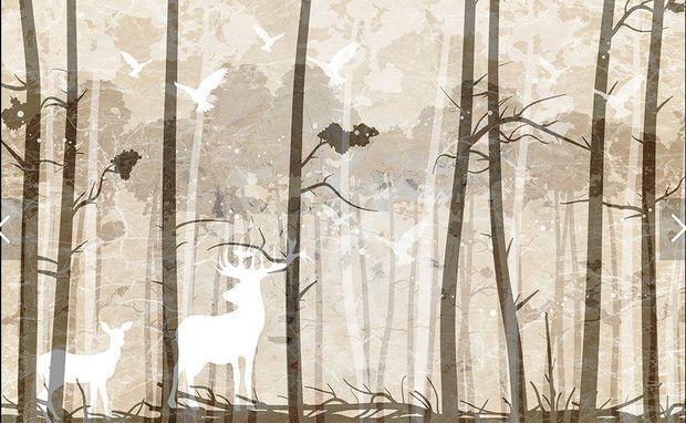 3D Herbst Baumstamm 4665 Fototapeten Wandbild Fototapete BildTapete Familie DE