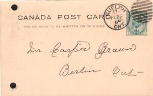 Canada-Postal-Stationary-Cover-Berlin-Ontario-Postmark-Fancy-Cancel-1903