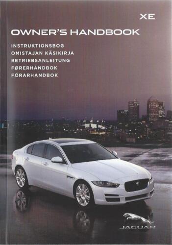 JAGUAR XE manuale di istruzioni 2016 MANUALE MANUALE bordo libro BA
