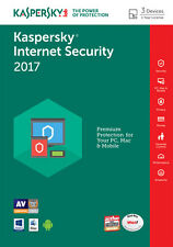 Kaspersky Internet Security 2017 3 PC / User / Devices / 1 Year