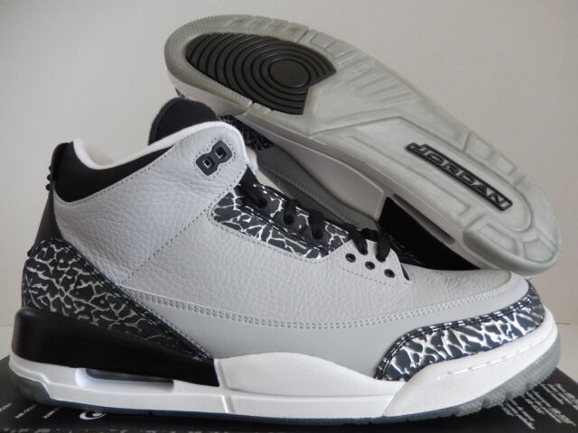 cd62e5244874 ... new style nike air jordan 3 retro wolf grey white black sz 12.5 136064  de106 94821