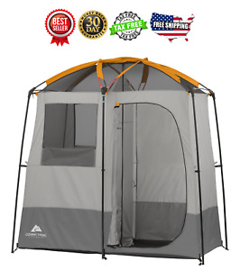 Image is loading Ozark-Trail-2-Room-C&ing-Shower-Tent-Portable-  sc 1 st  eBay & Ozark Trail 2 Room Camping Shower Tent Portable Bath Shelter ...