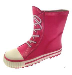 15f006d2aa03 Details about Kids Girls Rubber Rain Snow Boots Wellies Wellingtons  Childrens Size UK 4.5 - 3