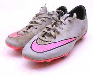 Nike-Ragazzi-UK-Taglia-4-5-Grigio-Mercurial-scarpe-da-calcio