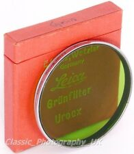 Leitz UROOX Green Filter 58mm for Leica Summarex f=8.5cm 1:1.5 & HEKTOR f=12.5cm