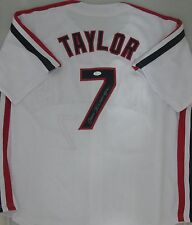 Major League TOM BERENGER Signed Indians JAKE TAYLOR Custom Jersey AUTO - JSA