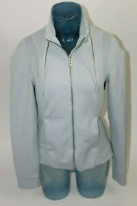 128-Lululemon-Womens-Full-Zip-Light-Blue-Gray-Jacket-Size-10-Vented-Mesh