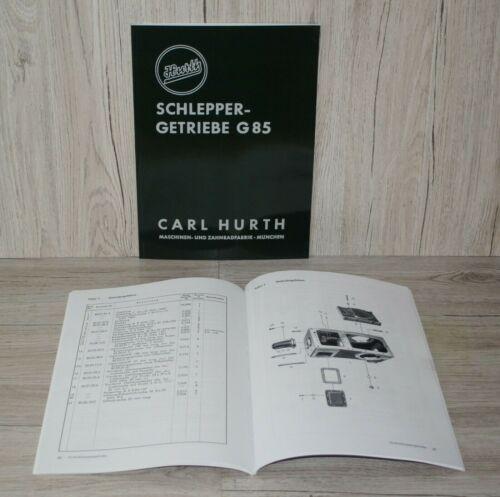 Hurth manual de instrucciones de repuestos lista engranaje g85 Carl Hurth