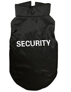 New-Pet-Dog-Waterproof-Vest-Coat-Jacket-Security-Print-Black-S-M-L-XL-2XL
