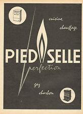 Publicité 1956  Cuisine Chauffage PIED SELLE gaz charbon