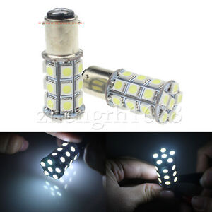 2pcs-White-BA15D-5050-27SMD-replace-Boat-Marine-RV-Car-LED-Light-Bulb-1142-1076