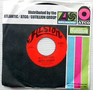 BETTY-WRIGHT-Soul-45-Is-It-You-Girl-ALSTON-MINT