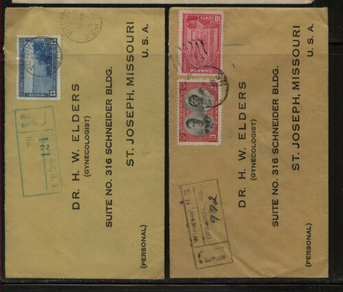 Canada 2 registered covers MS0411