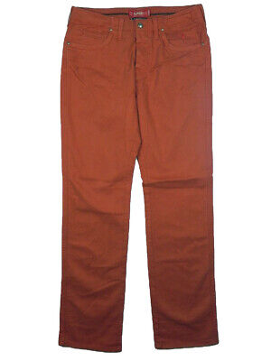 Pantaloni Jeans Uomo Jaggy Mcqueen Tg W33 It 46-48 Orange Cotone Gabardine