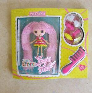 Jewel-Sparkles-Mini-Lalaloopsy-Doll-New-Loopy-Hair-Clips-Comb-Pink-Yarn-MGA