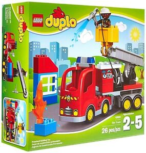 Lego 10592 Duplo Town Fire Truck Building Set 2015 New