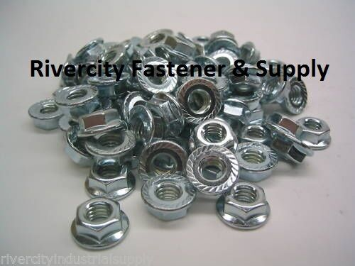 ZINC PLATED One Bag of 50 Nuts 5//16-24 SERRATED FLANGE NUTS WIZ NUT 50