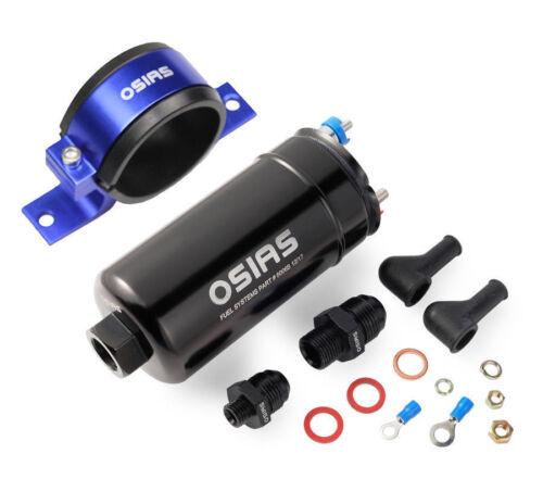 New 380LPH External Inline Fuel Pump Replaces BOSCH 0580254044 Mounting Bracket