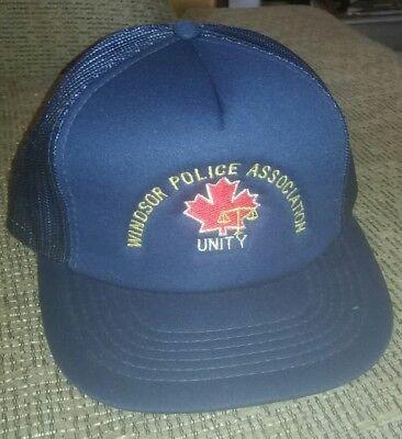 f37b533fd VINTAGE Snapback Hat Windsor Ontario Police Canada cap.mesh BLUE  embroidered OLD | eBay