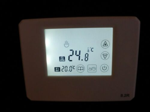 Thermostat with Touchscreen White Surface Floating Contact Battery #769