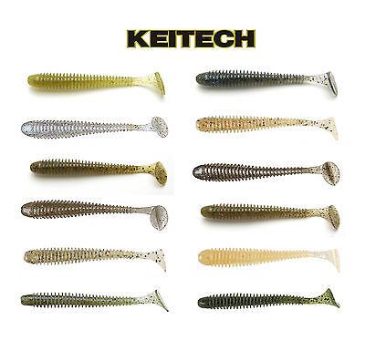 "Keitech Swing Impact Paddle Tail Swimbait 4/"" 8 Pack Keitech Lures 10 Cm"