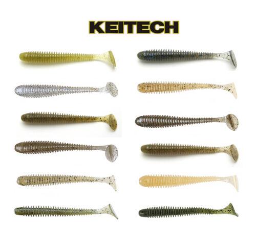 "5 Cm Keitech Swing Impact Paddle Tail Swimbait 2/"" 12 Pack Keitech Lures"