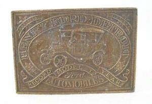 Vintage-Central-amp-Union-Pacific-Railroad-Co-Brass-Belt-Buckle-B-36