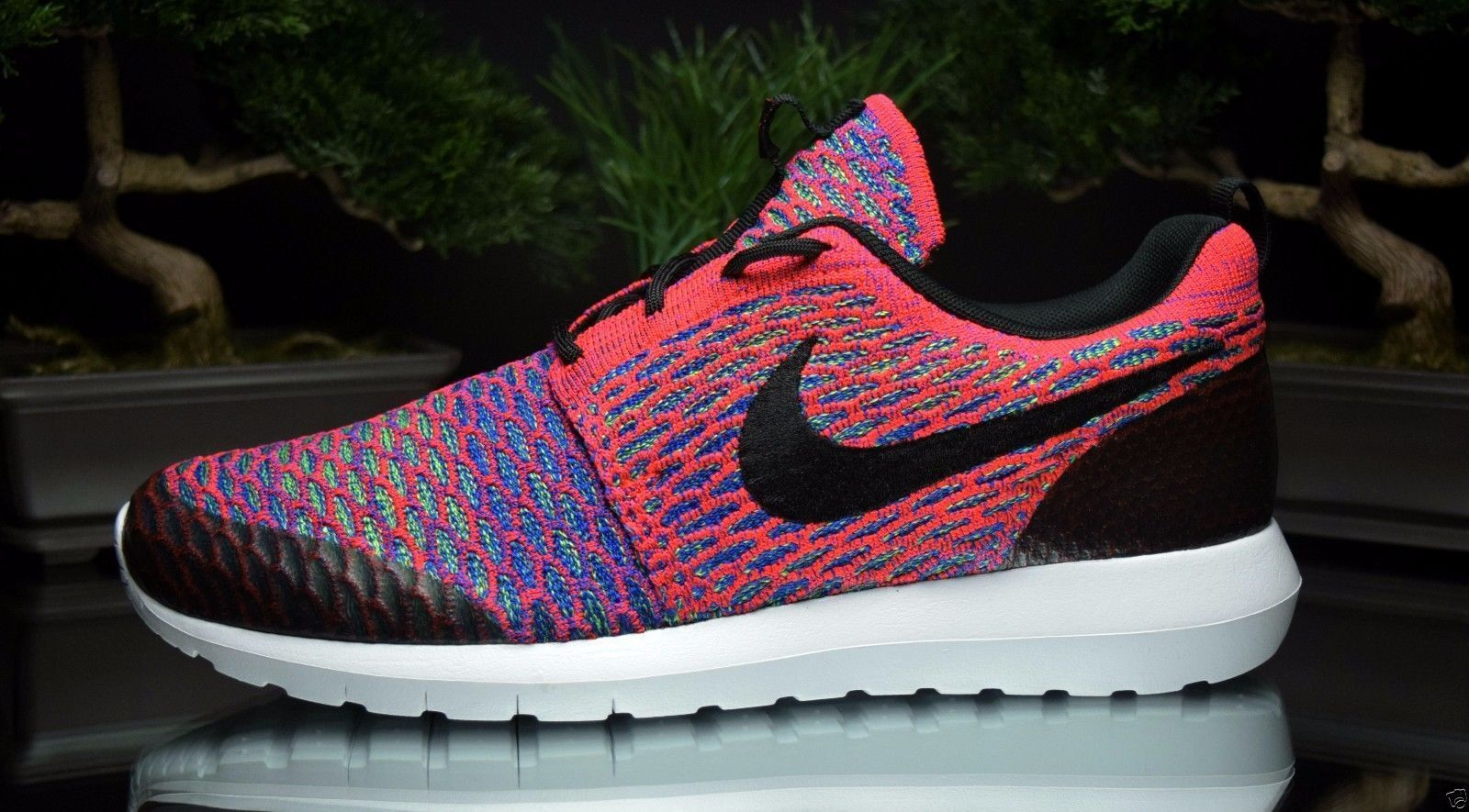 NIKE ROSHE NM FLYKNIT SE SIZE 10 SHOES 816531 600 MENS RUNNING SHOES