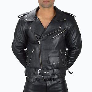 1086.gr.xxl Noir Cuir Moto Veste Veste En Cuir, Racing Leather Biker Jacket,-afficher Le Titre D'origine Approvisionnement Suffisant