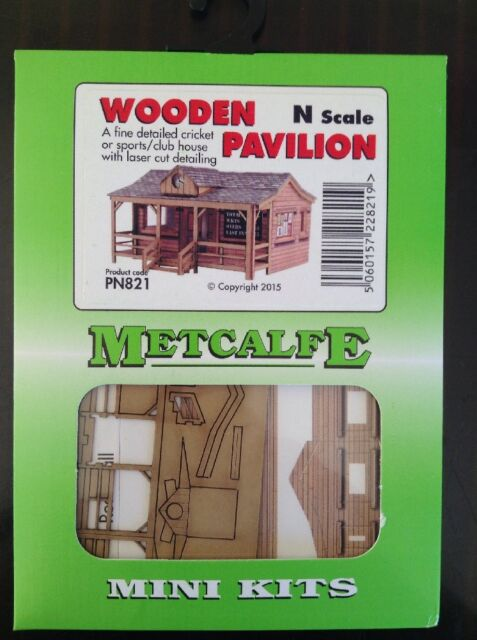 Metcalfe Mini Kit PN821. Wooden Pavilion. N Scale.