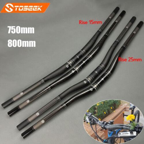 TOSEEK T800 Carbon Fiber Mountain Bike Riser Bar 31.8* 750//820mm Handlebar 9°