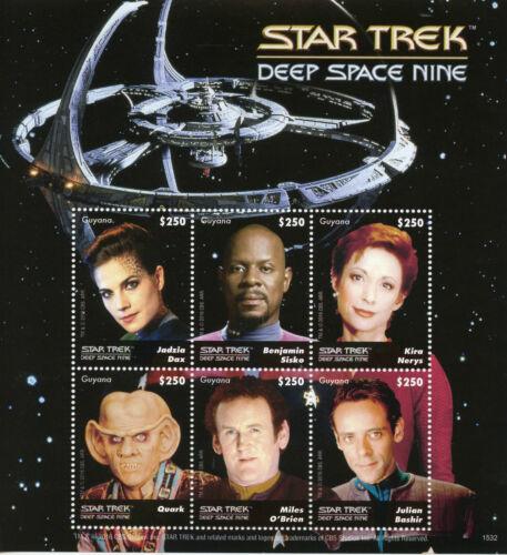 Guyana 2015 MNH Star Trek Deep Space Nine 6v M//S Benjamin Sisko Quark Stamps
