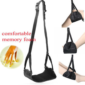 Adjustable-Memory-Foam-Premium-Travel-Airplane-Foot-rest-Hammock-Foot-Hanger
