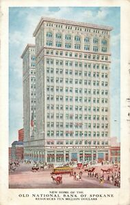 Postcard-Old-National-Bank-of-Spokane-Washington