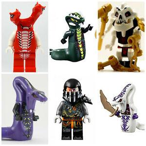 Ninjago-lego-Pythor-Mini-Figures-Serpentine-Lloyd-Cole-Jay-Kai-Sylor-Pythor