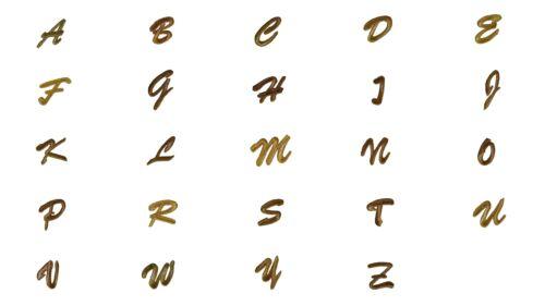 Buchstaben Aufnäher//Aufbügler gold Komplettes Alphabet einzeln auswählbar