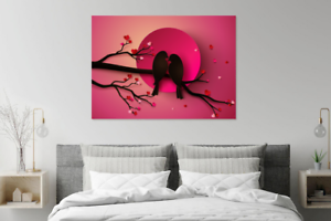 Love Birds Handcraft Art home decor wall picture high quality choose ur size