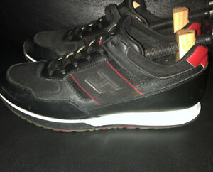Hogan Mens Sneakers Black And Red Size