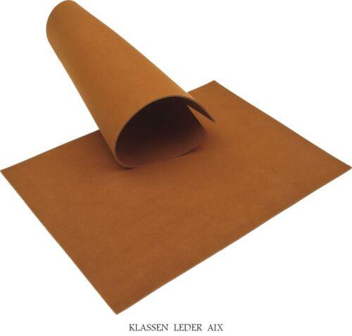 Cuir de Vachette Cognac 2,6 mm épais a4 format Velours Cuir Veritable Marron Latex 59