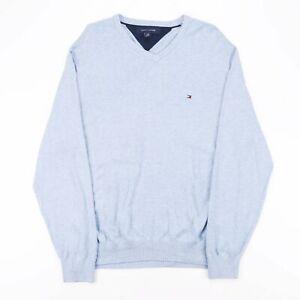 Tommy Hilfiger blau 00s V-Neck Pullover Herren L